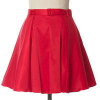 Trendy and Cute bottoms - Ark & Co - Red Belted A Line Skirt - chloelovescharlie.com | $58.00