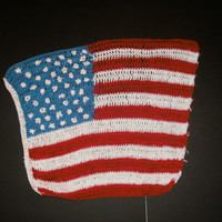 handmade crochet American flag by CanadianCraftCritter on Etsy
