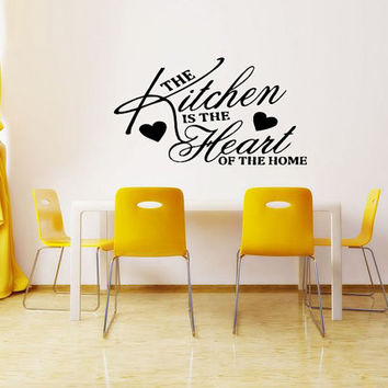 Wall Decal Vinyl Sticker Room Tattoo Decor Kitchen Is The Heart Of The Home Quote Sign 1350