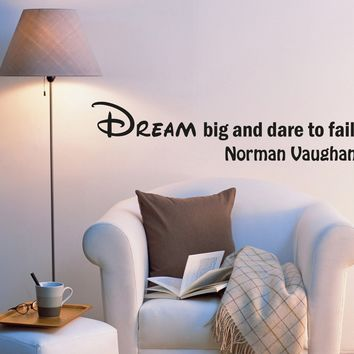 Wall Decal Words of Wisdom Dream Lettering Help of Succeed Vinyl Sticker (ed1055) (22.5 in X 5 in)