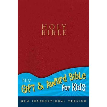 Holy Bible: New International Version Red Leather-Look Gift and Award Bible for Kids