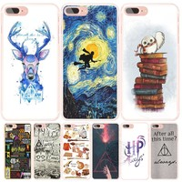 harry potter deer always owl howgwarts  hallows cell phone Cover case for iphone 6 4 4s 5 5s SE 5c 6 6s 7 plus case for iphone 7
