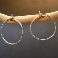 Hoop Earrings - Small - SILVER