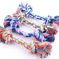 SPECIAL SALE !!! New Puppy Dog Pet Toy Cotton Braided Bone Rope