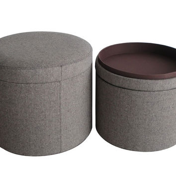 Screen Gems Mandalay Tweed Storage Ottomans