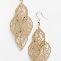 Junior Women's BP. Filigree Chandelier Earrings