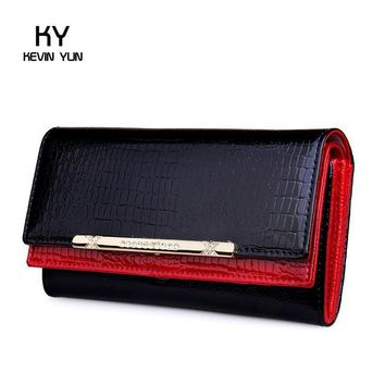 Women's Wallets KEVIN YUN Luxury Patent Leather
