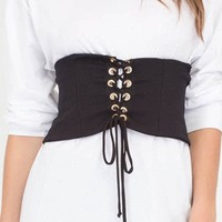 New Arrival Fashion Women Denim Belts Corsets Belt Front tie-up Back Zipper Womens' Wide Casual Belt Size S-XL KH866795