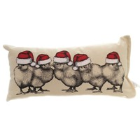 Christmas SANTA CHICKS Fabric Home Decor Spsantachicks