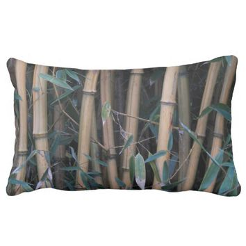 Bamboo Forest Floral Lumbar Pillow