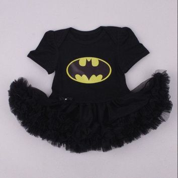 Halloween Baby Costume Veil Skirt Short Sleeve Crawling Rompers