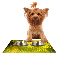 "Iris Lehnhardt ""Summer"" Tree Green Dog Place Mat"