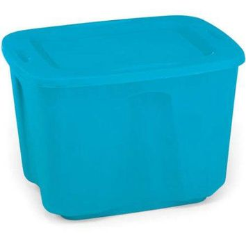 18-Gallon Medium Storage Organizer Tote Bin, Case of 8