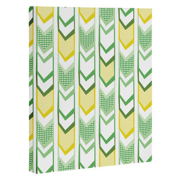 Heather Dutton Right Direction Lemon Lime Art Canvas