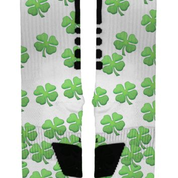 St Patrick's Day Clovers Custom Nike Elites