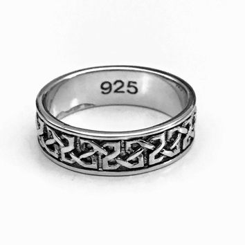 Celtic Knotted Ring, Celtic Braid Ring, Sterling Silver Celtic Ring, Celtic Jewelry, Celtic Design, Celtic Knot Ring, Gifts for Her