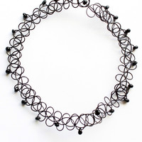Black Bead Choker