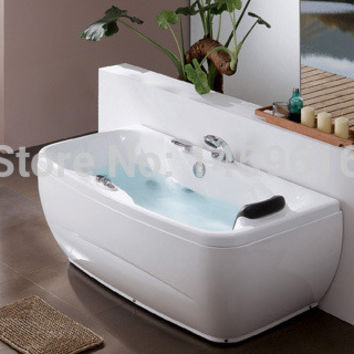 Sea Shipping Whirlpool Bathtub Acrylic Abs Composite Piscine Right Head Rest Massage Hot Tub W4011
