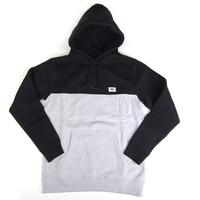 Obey: West Hooded Sweatshirt - Black / Heather Grey