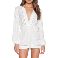 Myne Moon Romper in White