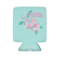 Myrtle the Turtle Can Holder by Southern Fried Cotton