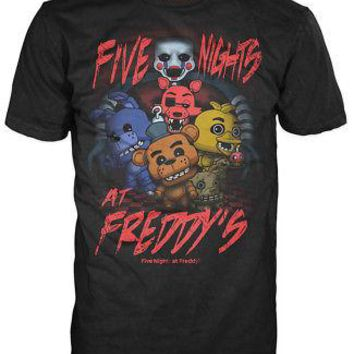 Funko Pop Tees: Five Nights At Freddy's - FNAF Group (Youth Medium)