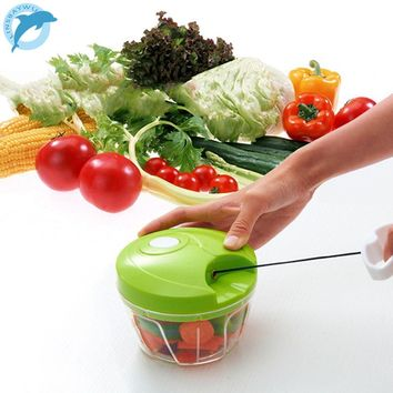LINSBAYWU Kitchen Tools Onion Vegetable Chopper Multifunctional Hand Speedy Chopper Vegetable Fruits Chopped Shredders & Slicers