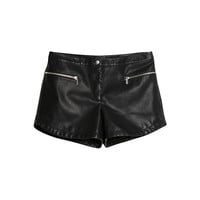 Buy Mango Faux Leather Shorts, Black | John Lewis