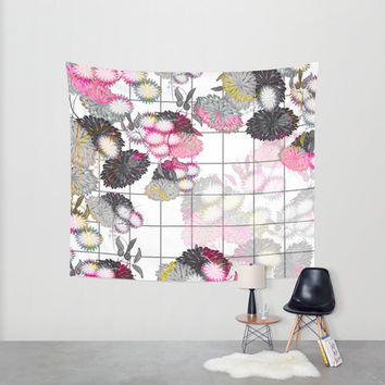 Tapestry, hippie tapestry, bohemian tapestry, wall tapestry, wall hanging, floral unique colors, positive home decoration