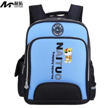 PEAPU3S Quality Orthopedic Children Backpacks Kids School Bags For Boys Girls Primary School Backpack Kids Reflective Waterproof Bag