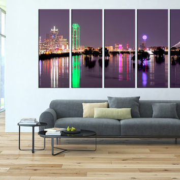 Dallas wall art print , Dallas city skyline wall art, large canvas print, extra large wall art, Dallas skyline wall art canvas print t75