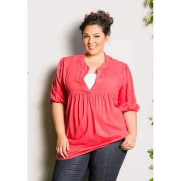 Plus Size Pink Tunic Top