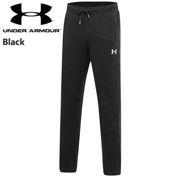 Under Armour new trend casual sports men's plus velvet warm straight pants black