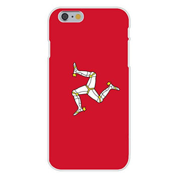 Apple iPhone 6 Custom Case White Plastic Snap On - Isle of Man - World Country National Flags