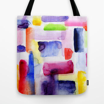 Color Block Tote Bag by Miss L In Art