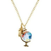 ASOS Spinning Globe & Binoculars Necklace at asos.com