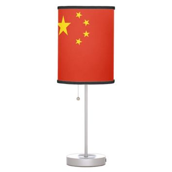 Patriotic table lamp with Flag of China