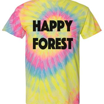 Electric Forest Festival Tshirt Unisex Happy Forest Tie Die Tshirt