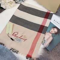 Perfect  Burberry  Women Wool Scarf Shawl Silk Scar