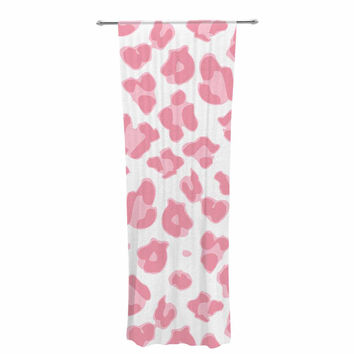 "Wildlife ""Pink Animal Print 2"" Pink Digital Decorative Sheer Curtain"