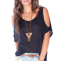Edna Modal Top in Navy :: tobi