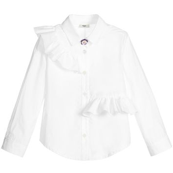 Fendi Girls Fancy White Blouse