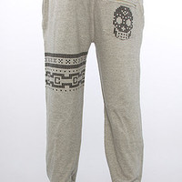 The Lux Skull Sweatpants in Speckle Grey