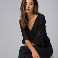 Giamba Top in Scatter Rose by Motel