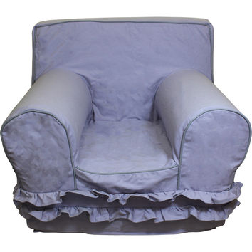 Lavender with Skirt Chair Cover for Foam Childrens Chair