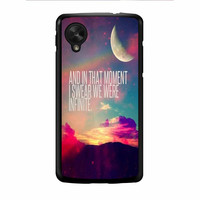 Perks Of A Wall Flower Quote Design Vintage Retro Nexus 5 Case