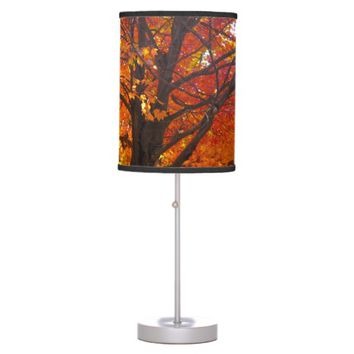 Autumn Leaves of Yellow and Orange Table Lamp