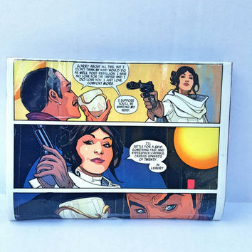 Princess Leia Comic Book Wallet- Pouch - Cluch - Purse