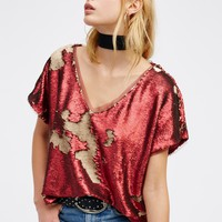 Free People Glitz It Tee