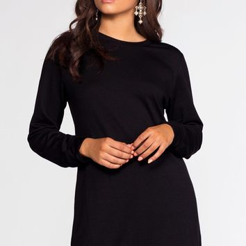 Destiny Sweatshirt Dress - Black